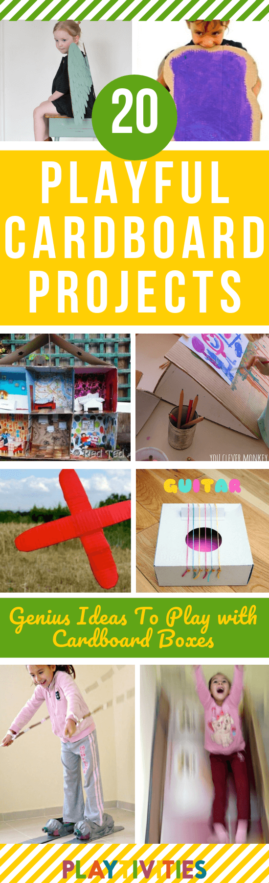 20 Genius Ideas To Play With Cardboard Boxes - PLAYTIVITIES