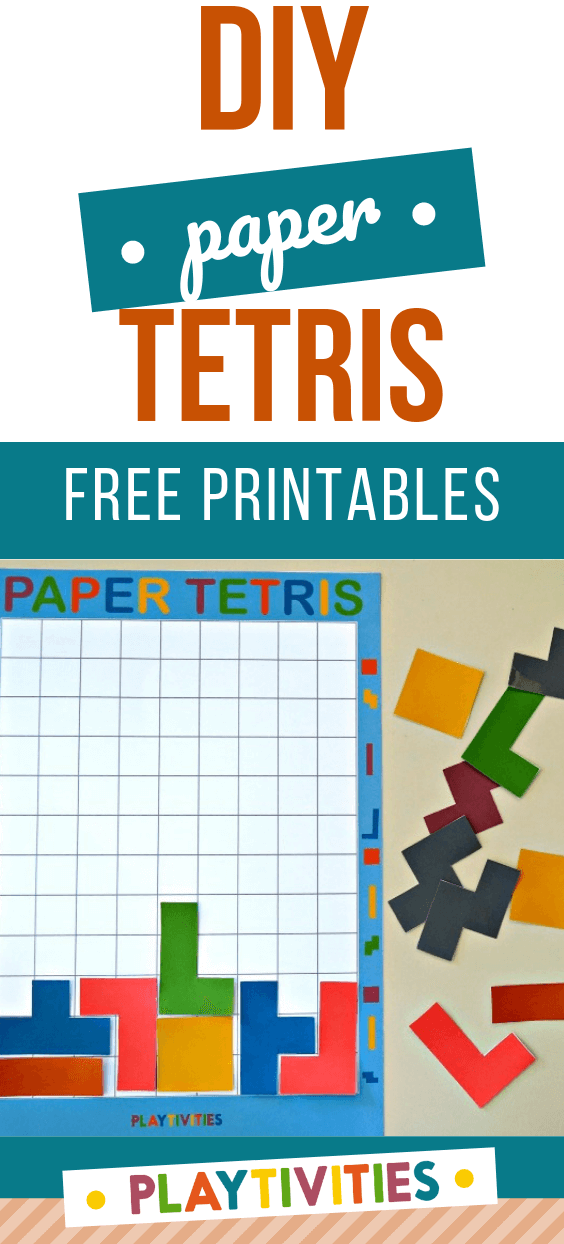 diy paper tetris for kids