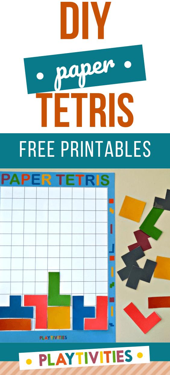 diy paper tetris for kids