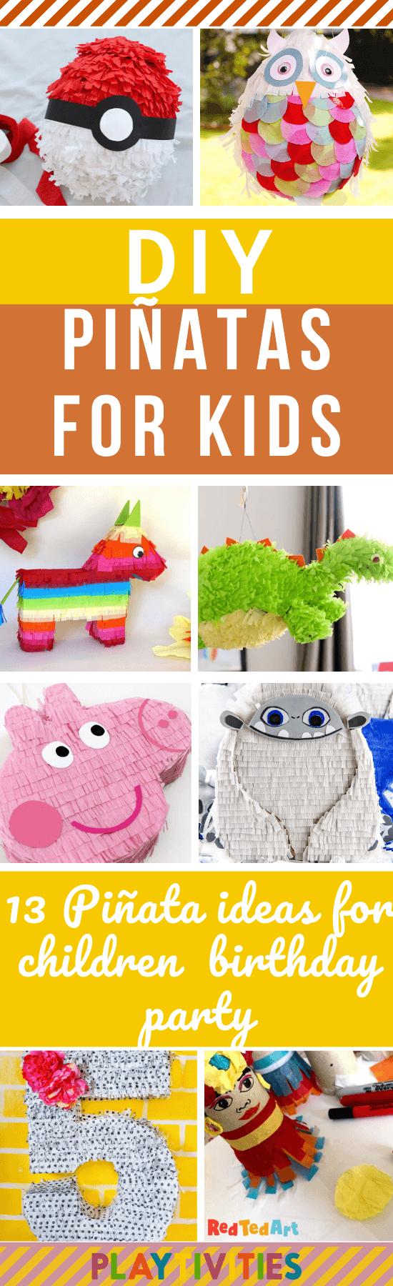 DIY Piñatas for kids