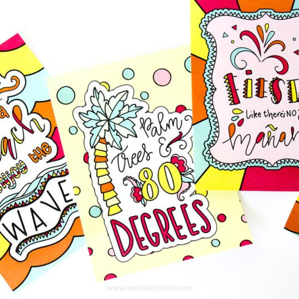printable coloring sheets in bright colors