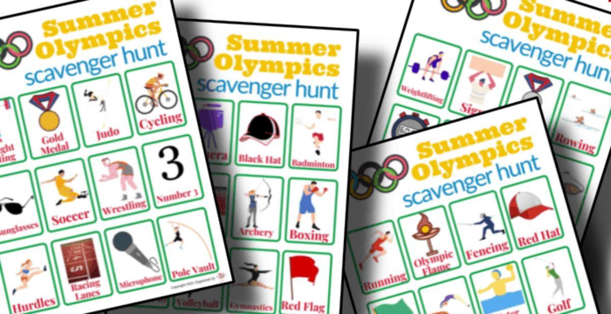 a snapshot of scavenger hunt cards