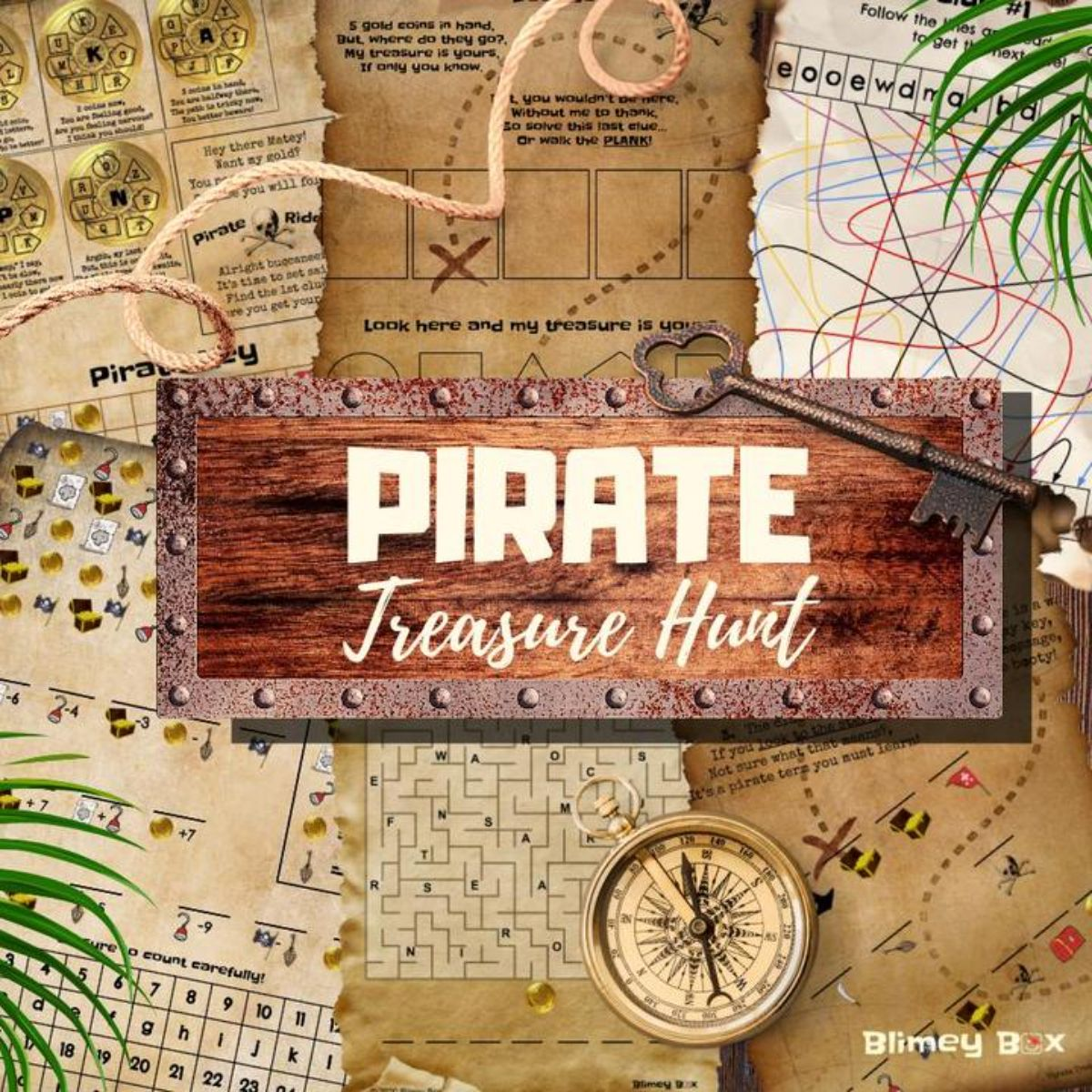 an image showing pages from a pirate treasure hunt.